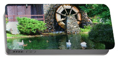 Water Wheel Duck Pond Portable Battery Charger by Smilin Eyes  Treasures