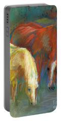 Portable Battery Charger featuring the painting Waterbreak by Frances Marino