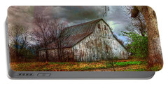 Watercolor Barn 2 Portable Battery Charger by Karen McKenzie McAdoo