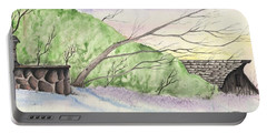 Watercolor Barn Portable Battery Charger