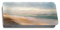 Watercolor Beach Abstract Portable Battery Charger