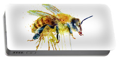Watercolor Bee Portable Battery Charger