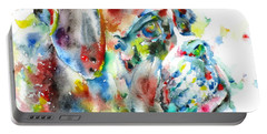 Watercolor Boxer Portable Battery Charger
