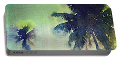 Watercolor Coconut Tree Tropical Vintage Palm  Portable Battery Charger