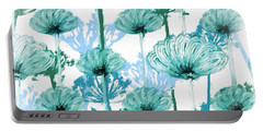Portable Battery Charger featuring the digital art Watercolor Dandelions by Bonnie Bruno