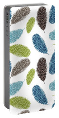 Watercolor Feathers Portable Battery Charger by Ps