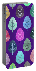 Watercolor Forest Pattern II Portable Battery Charger