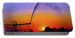 Watercolor Irrigation Sunset 3243 W_2 Portable Battery Charger