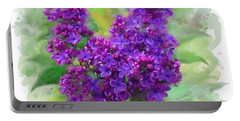 Watercolor Lilac Portable Battery Charger