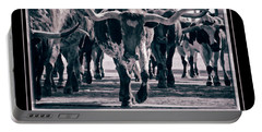 Watercolor Longhorns 2015 Portable Battery Charger