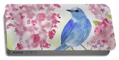 Watercolor - Mountain Bluebird Portable Battery Charger