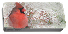 Watercolor Northern Cardinal Photograph Portable Battery Charger