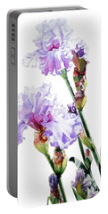 Watercolor Of A Tall Bearded Iris I Call Lilac Iris Wendi Portable Battery Charger