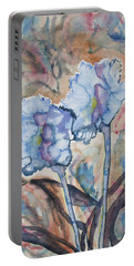 Watercolor - Orchid Impression Portable Battery Charger