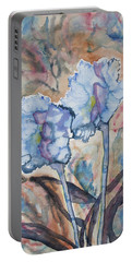 Portable Battery Charger featuring the painting Watercolor - Orchid Impression by Cascade Colors