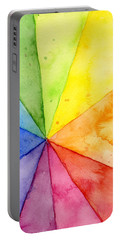 Watercolor Rainbow Beachball Pattern Portable Battery Charger