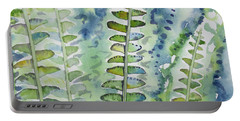 Watercolor - Rainforest Fern Impressions Portable Battery Charger