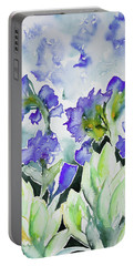 Watercolor - Rocky Mountain Wildflowers Portable Battery Charger