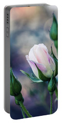 Watercolor Rose Portable Battery Charger