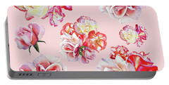 Portable Battery Charger featuring the painting Watercolor Roses Pink Dance by Irina Sztukowski