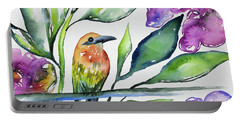 Watercolor - Rufous Motmot Portable Battery Charger