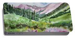 Watercolor - San Juans Mountain Landscape Portable Battery Charger