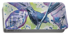 Watercolor - Smooth-billed Ani Portable Battery Charger