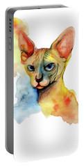 Watercolor Sphynx 2 Portable Battery Charger