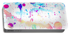 Watercolor Splashes Background Portable Battery Charger