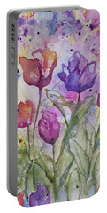 Watercolor - Spring Flowers Portable Battery Charger