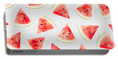 Watercolor Watermelon Pattern Portable Battery Charger