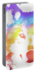 Watercolor Wolf Portable Battery Charger