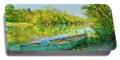 Watercolors At The Lake Portable Battery Charger