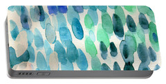 Waterfall 2- Abstract Art By Linda Woods Portable Battery Charger