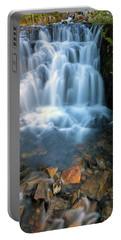 Waterfall Along Sunbeam Creek In Mt Rainier National Park Portable Battery Charger