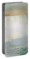 Waterfall And Rainbow At Niagara Falls Portable Battery Charger