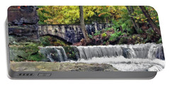 Waterfall At Olmsted Falls - 1 Portable Battery Charger