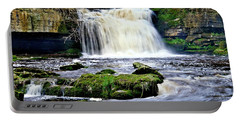 Waterfall At West Burton, Yorkshire Dales Portable Battery Charger