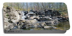 Portable Battery Charger featuring the photograph Waterfall At Wickecheoke Creek by Bill Cannon