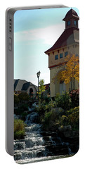 Portable Battery Charger featuring the photograph Waterfall Frankenmuth Mich by LeeAnn McLaneGoetz McLaneGoetzStudioLLCcom
