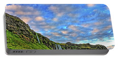 Portable Battery Charger featuring the photograph Waterfall Hill by Scott Mahon