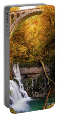 Portable Battery Charger featuring the photograph Waterfall In An Autumn Canyon by IPics Photography