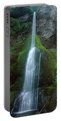 Waterfall In Olympic National Rainforest Portable Battery Charger