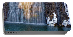 Waterfall In Winter Portable Battery Charger