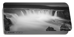 Waterfall Of The Gods Iceland Portable Battery Charger