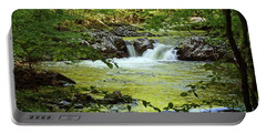 Waterfall Reflections Portable Battery Charger by TnBackroadsPhotos