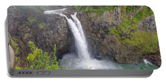 Waterfall Through The Mist Portable Battery Charger