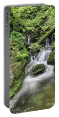Portable Battery Charger featuring the photograph Waterfalls And Rapids On The White Opava Stream by Michal Boubin
