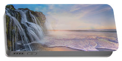 Waterfalls Into The Ocean Portable Battery Charger