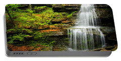 Waterfalls On Little Three Mile Run Portable Battery Charger